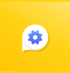 Support chat logo icon for apps vector