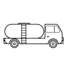 Tank truck icon outline style vector image