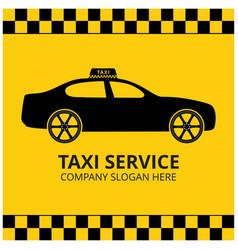 taxi icon taxi service taxi car yellow background vector image