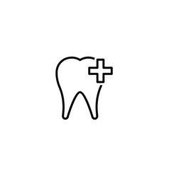 tooth care icon vector image