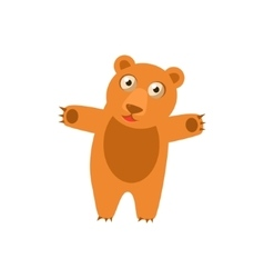 Toy Bear Simplified Cute vector image