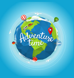 Travel adventure time concept vector