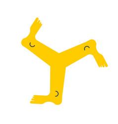 Triskelion symbol three legs vector