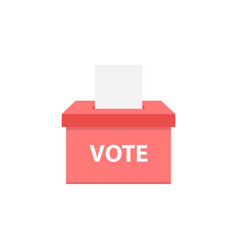 Vote box icon flat style vector