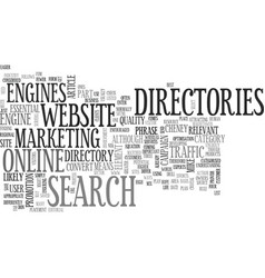 Why directories might save your website s life vector