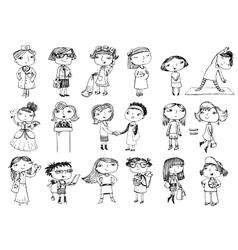 Women characters vector