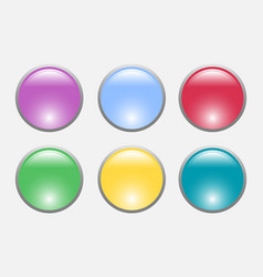 color buttons set isolated on white background vector image