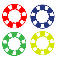 colorful casino poker chip vector image vector image