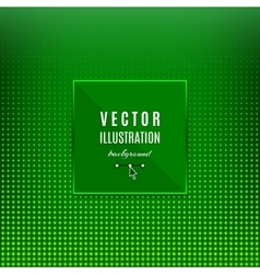 Green abstract background Geometric frame with vector image vector image