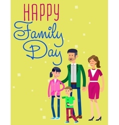International day Families concept vector image