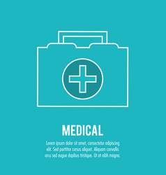 kit first aid urgency medical health care vector image vector image