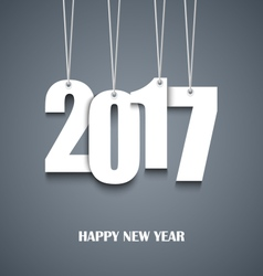 New Year card with hanging white numbers vector image vector image