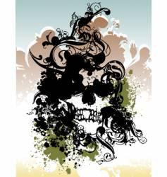 punk skull illustration vector image vector image