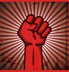 red protest poster vector image