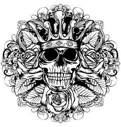 skull corona rose vector image