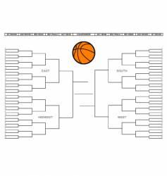 college basketball tournament bracket vector image