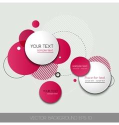 Modern Design Circle template vector image vector image