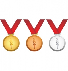 Olympic medals vector image