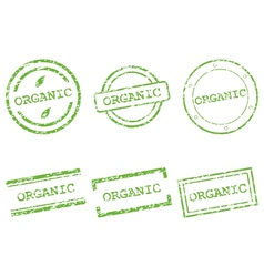 Organic stamp vector