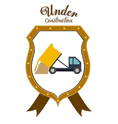 Under construction digital design vector image