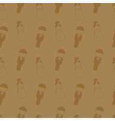 Vintage style wedding seamless pattern Wedding vector image