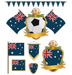 australia flags vector image vector image
