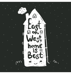 East or West home is best Inspirational quote vector image