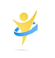 Human perfecting body logo vector image
