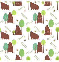 seamless pattern bear vector image vector image