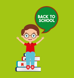 students back to school vector image vector image