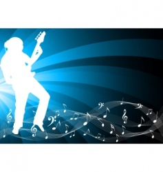 vector background with silhouette vector image vector image