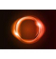 abstract round on black red vector image vector image