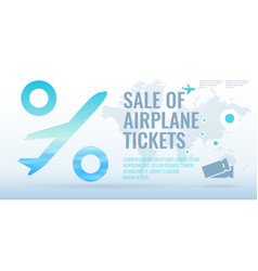 conceptual poster sales and discounts of airplane vector image
