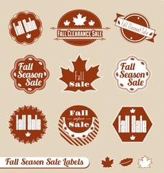 Fall Seasonal Sale Label Set vector image vector image