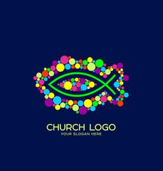 fish the symbol of jesus christ vector image
