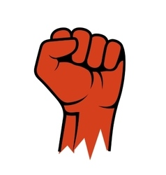 Raised Fist Icon Hand Protest Strike Fight vector image