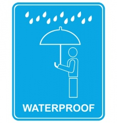 waterproof sign vector image vector image
