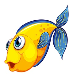 A yellow fish vector image vector image