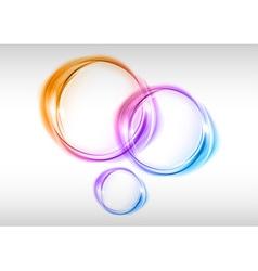 abstract small circles var vector image