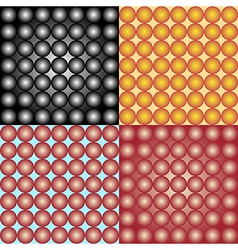 abstract spheres background set vector image