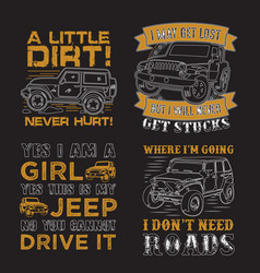 adventure car quote and saying set good for print vector image