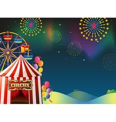 An amusement park vector image