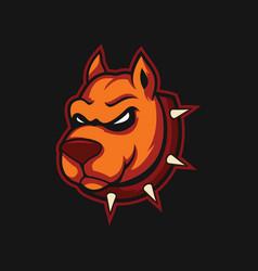 angry dog design vector image