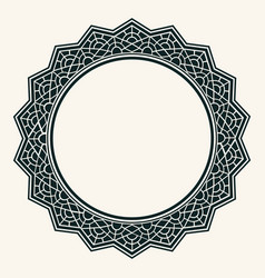 arabic design- circular border ornamental round vector image