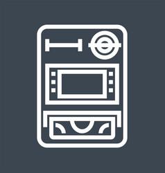 atm thin line icon vector image