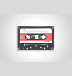 audio cassette detailed elements old retro vector image