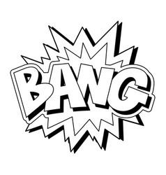 Bang explosion comics style print design vector