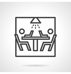 Black line icon for teamwork vector image