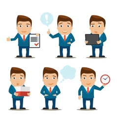 Business characters set vector
