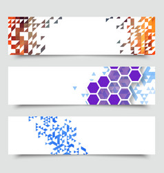 business design templates set banners with vector image